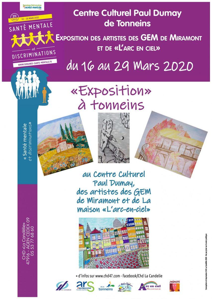 Exposition des artistes des GEM de Miramont et de Marmande!