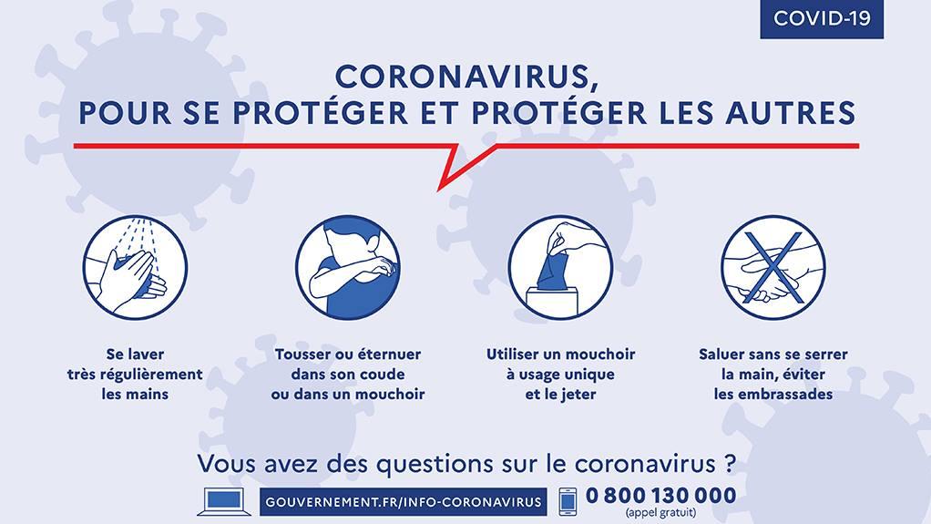 PRÉVENTIONS CORONAVIRUS COVID-19