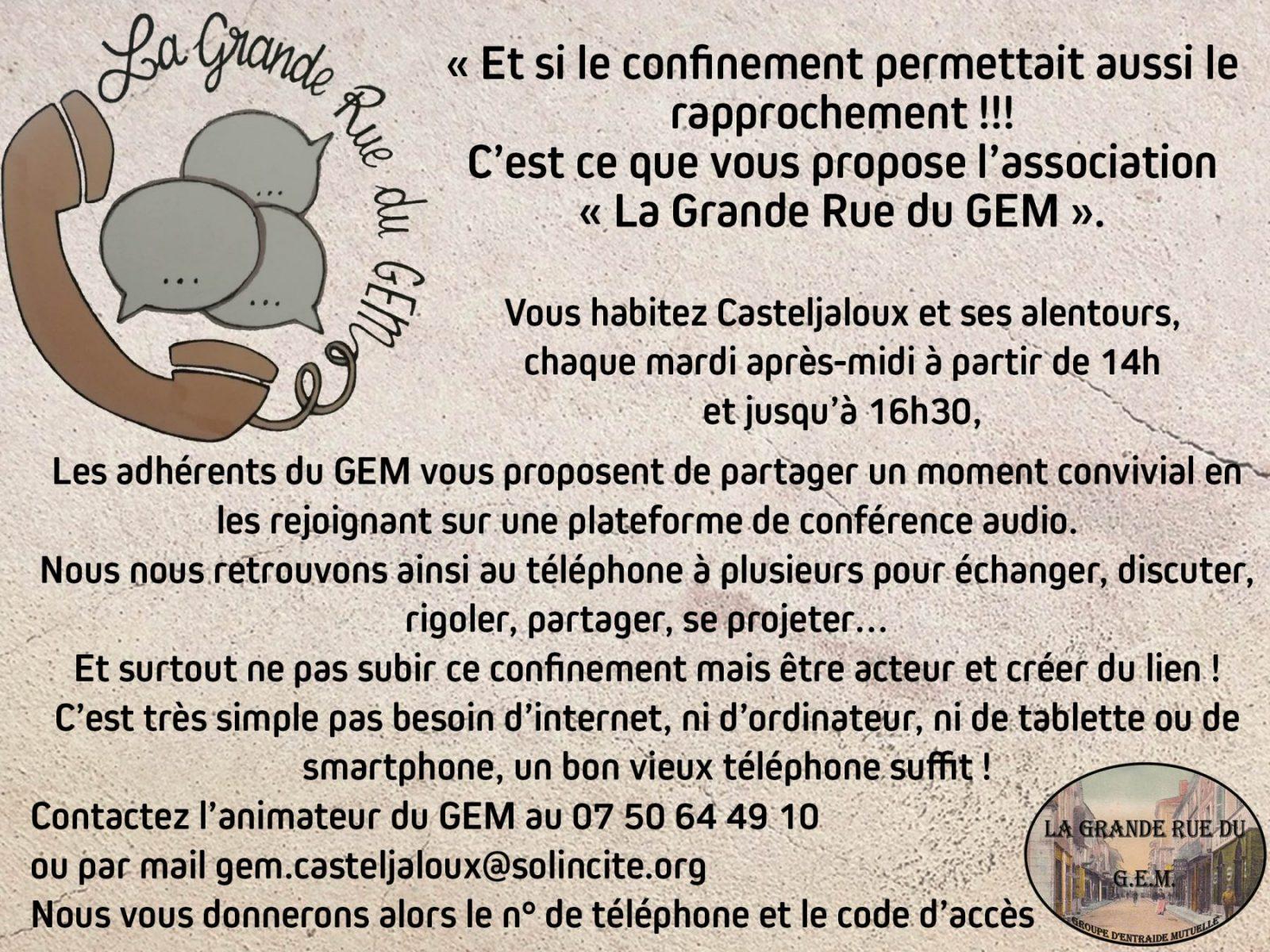 Conférences Audios à la Grande Rue du Gem à Casteljaloux